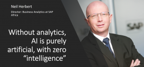 Without analytics, AI is purely artificial, no 'intelligence'