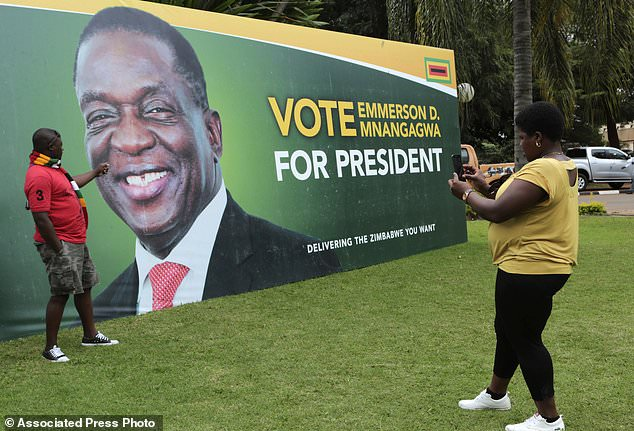 Pair arrested for tearing Mnangagwa election posters