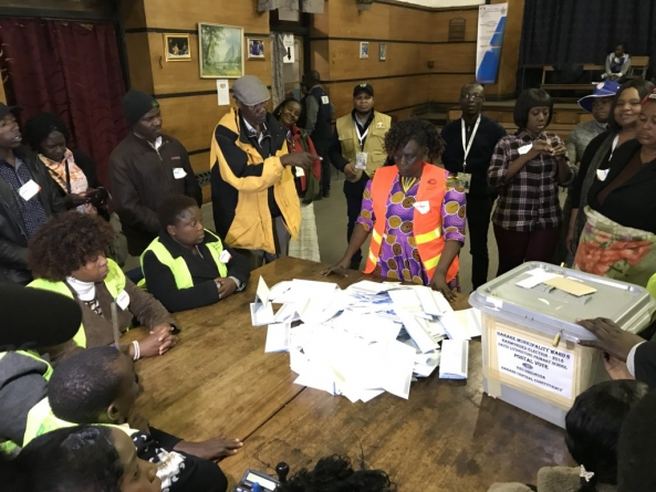 Nail biting wait for Zimbabwe poll results
